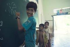 Escuela en Camboya Imágenes de archivo libres de regalías