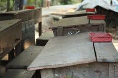 Escuela en el Mekong Imagen de archivo