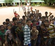 Escuela feliz la niño-India Imagen de archivo libre de regalías