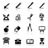 Escuela fijada iconos Imagen de archivo