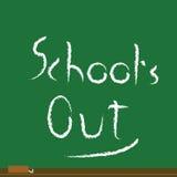 Escuela hacia fuera Imagen de archivo libre de regalías