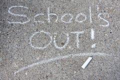 Escuela hacia fuera Fotografía de archivo