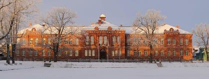 Escuela i de Viljandi Kesklinna escuela céntrica de e Viljandi Fotos de archivo libres de regalías
