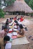 Escuela india de la aldea Fotografía de archivo libre de regalías