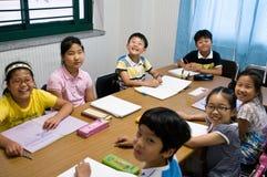 Escuela inglesa en el Sur Corea Fotografía de archivo