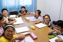 Escuela inglesa en el Sur Corea Fotos de archivo