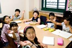 Escuela inglesa en el Sur Corea Imagen de archivo libre de regalías
