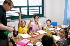 Escuela inglesa en el Sur Corea Fotos de archivo libres de regalías