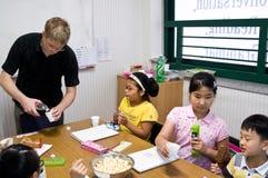 Escuela inglesa en el Sur Corea Foto de archivo libre de regalías