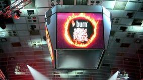 Escuela internacional de la batalla de la quemadura de la demostración de la rotura-danza almacen de video