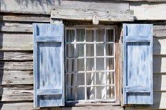 Escuela muy vieja St Augustine FL de la ventana Imágenes de archivo libres de regalías