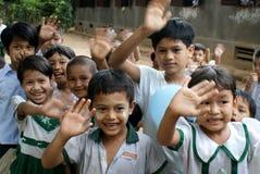 Escuela myanmar Fotos de archivo libres de regalías