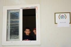 Escuela para los refugiados sirios en yayladagi Imagenes de archivo