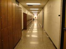 Escuela Pasillo Imagenes de archivo