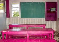 Escuela primaria típica de la sala de clase en privado Foto de archivo libre de regalías