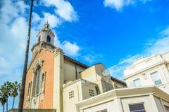 Escuela religiosa bendecida hollywood del sacramento en bulevar de la puesta del sol Fotografía de archivo