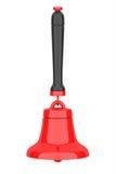 Escuela roja Bell del vintage representación 3d Imagen de archivo