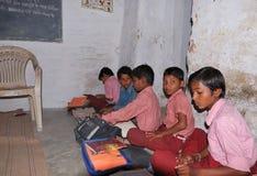 Escuela típica en la India Imagen de archivo libre de regalías