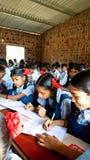 Escuela tribal en la India Fotografía de archivo