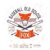 Escuela vieja del béisbol del emblema Foto de archivo libre de regalías