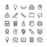 Escuela y línea iconos 8 de la educación del vector ilustración del vector