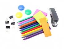 Escuela y materiales de oficina Imagen de archivo