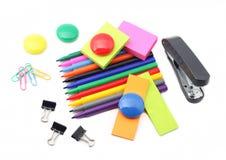Escuela y materiales de oficina Fotografía de archivo