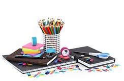Escuela y materiales de oficina Fotografía de archivo libre de regalías