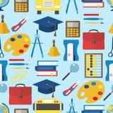 Escuela y modelo plano de la educación Foto de archivo libre de regalías