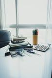 Escuela y oficina inmóviles Fotografía de archivo