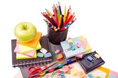 Escuela y oficina inmóviles. De nuevo a concepto de la escuela Imágenes de archivo libres de regalías
