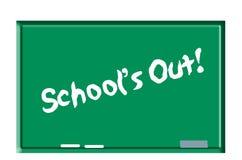 Escuelas hacia fuera en la pizarra Foto de archivo