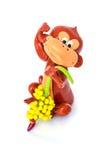 Esculpa el mono aislado Imagenes de archivo