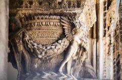 Esculpa los detalles en la ciudad vieja de Dubrovnik Foto de archivo
