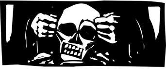 Esculpir un cráneo Imágenes de archivo libres de regalías