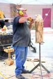 Escultor animal de madeira Fotos de Stock Royalty Free