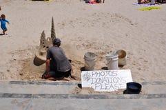 Escultor da areia foto de stock royalty free