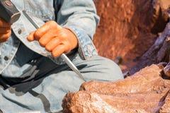 Escultor de piedra imagen de archivo