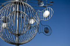 Escultura 2 del metal Fotografía de archivo