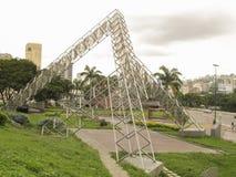 Escultura Abra Solar Alejandro Otero Plaza Venezuela de Venezuela Caracas foto de archivo libre de regalías