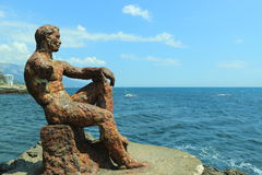 Escultura Alyosha do ferro fundido Fotos de Stock