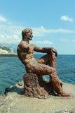 Escultura Alyosha do ferro fundido Imagens de Stock Royalty Free