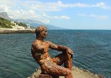 Escultura Alyosha do ferro fundido imagens de stock