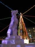 Escultura animal del hielo. Año Nuevo. Imagen de archivo libre de regalías