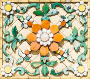 Escultura antiga da flor Foto de Stock