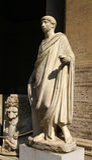 Escultura antigua Foto de archivo