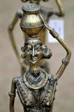 Escultura antigua del metal Fotos de archivo libres de regalías