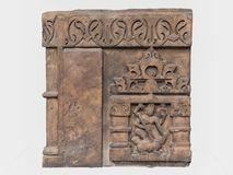 Escultura arqueológico de Mahisasuramardini da mitologia indiana imagens de stock