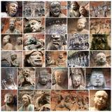 Escultura arquitectónica antigua oriental Foto de archivo libre de regalías
