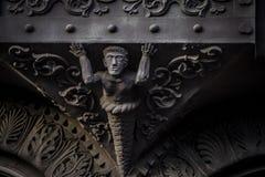 Escultura arquitetónica da construção aleatória imagem de stock